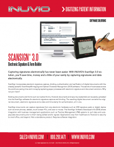 View / Download INUVIO ScanSign Data Sheet
